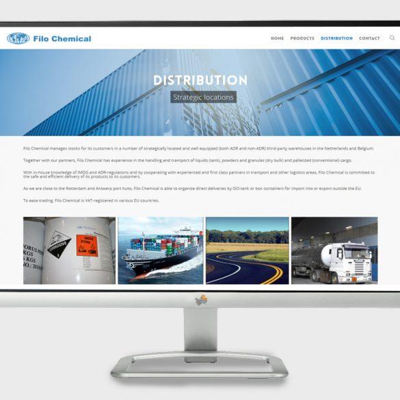 website voor chemisch bedrijf